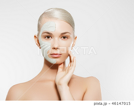 Joyful girl. Beauty, fashion model, Makeup. Body 46147015