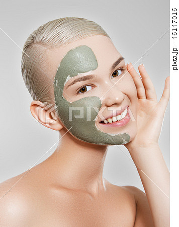 Joyful girl. Beauty, fashion model, Makeup. Body 46147016