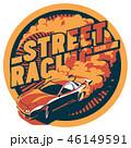 車 自動車 ドリフトのイラスト 46149591