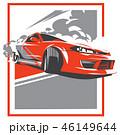 車 自動車 ドリフトのイラスト 46149644