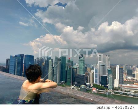 シンガポール マリーナベイサンズ インフィニティプール 日本人 男性 Singapore 46150527