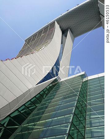 シンガポール マリーナベイサンズ 外観 青空 Singapore Marina Bay Sands 46150533