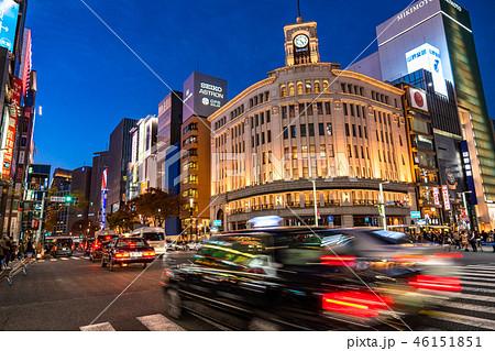 《東京都》銀座の夜景・歩行者天国 46151851
