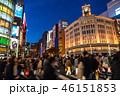 《東京都》銀座の夜景・歩行者天国 46151853