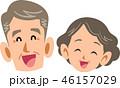 シニア 夫婦 笑顔のイラスト 46157029
