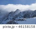 西穂独標 ガス 山の写真 46158158