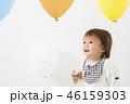 風船の中で遊ぶ幼児 男の子 46159303