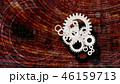 歯車 煉瓦塀 バックグランドのイラスト 46159713