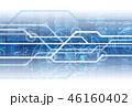 回線 サイバー ネットワークのイラスト 46160402