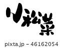 小松菜 筆文字 習字のイラスト 46162054
