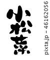 小松菜 筆文字 習字のイラスト 46162056