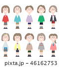 制服 女性 中学生のイラスト 46162753
