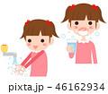 手洗い 子供 ベクターのイラスト 46162934