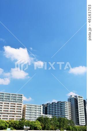 青空のマンション風景 46163703
