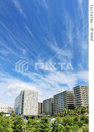 爽やかな青空のマンション風景 46163741