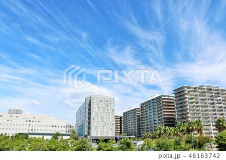 爽やかな青空のマンション風景 46163742
