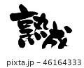 熟成 筆文字 習字のイラスト 46164333