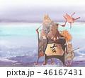 亥年 年賀素材 46167431