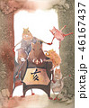 亥年 年賀素材 46167437