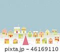 街並み クリスマス 星のイラスト 46169110