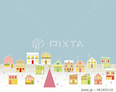 街並み クリスマス 星 46169110
