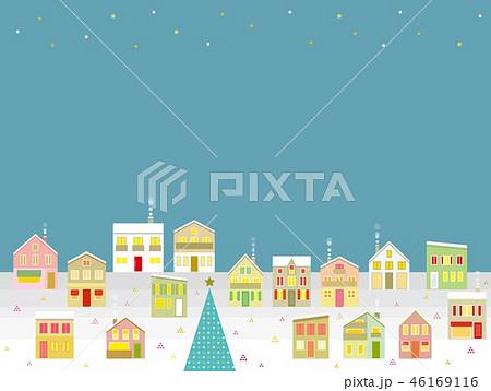街並み クリスマス 星 46169116