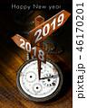 2019 謹賀新年 正月のイラスト 46170201