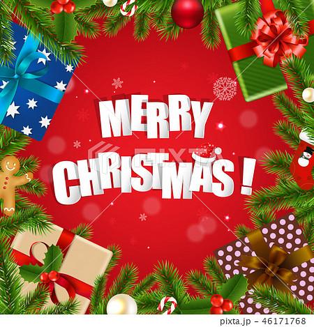 Merry Christmas Postcard 46171768