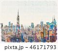 マンハッタン スカイライン 都市景観のイラスト 46171793