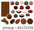チョコレート チョコ スイーツのイラスト 46172299