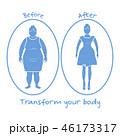 女性 ボディ 身体のイラスト 46173317