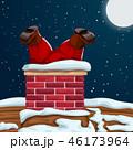煙突 クリスマス サンタクロースのイラスト 46173964