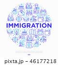 概念 イコン イミグレーションのイラスト 46177218