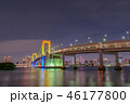 レインボーブリッジ 東京湾 ライトアップの写真 46177800