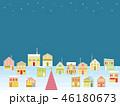 街並み クリスマス 星のイラスト 46180673