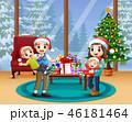 クリスマス ファミリー 家庭のイラスト 46181464