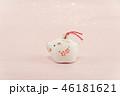白いイノシシの土鈴 46181621