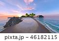 ビーチ 南国 夏のイラスト 46182115