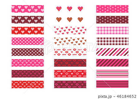 バレンタインパターン(マスキングテープ) 46184652