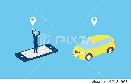 タクシー、配車アプリのイメージ 46184963