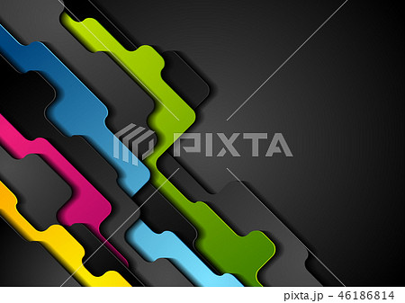 Colorful corporate abstract geometric background 46186814