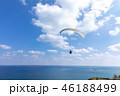 パラグライダー 海 海岸の写真 46188499