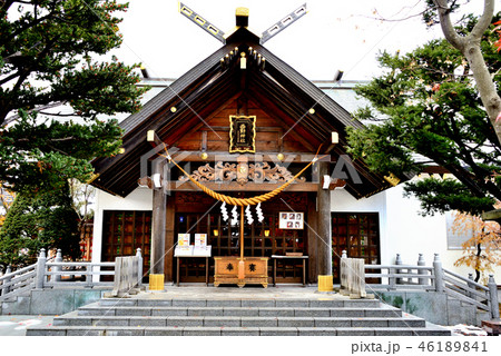 札幌市西野神社の拝殿 46189841