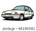 自動車 車 黄色のイラスト 46190381