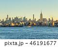 Manhattan Cityscape and Hudson River at Sunrise. New York City,  46191677