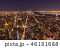 Illuminated Cityscape of Manhattan, New York at Night. United St 46191688