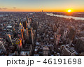 Cityscape of Manhattan, New York at Sunset. United States of Ame 46191698