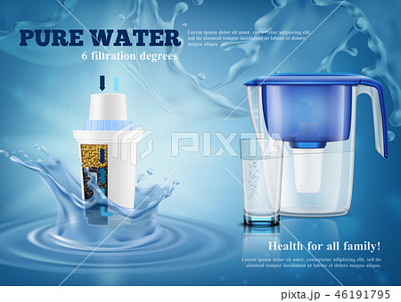 Water Filters Realistic Advertising Composition  46191795