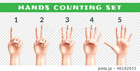 Transparent Set Of Counting Hands  46192655