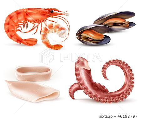 Seafood Realistic Set  46192797